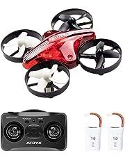 ATOYX AT-66 RC Mini Drone con Telecomando Funzione di Sospensione Altitudine modalità Headless 3 velocità 3D Flip Protezioni a 360°per Bambini e Principianti (Rosso)