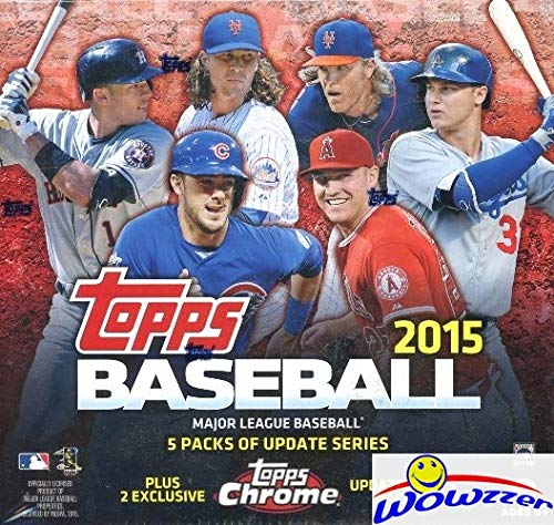 2015 Topps Chrome Baseball - 2015 Topps Chrome Update Baseball EXCLUSIVE Factory Sealed MEGA Box! Look for Chrome Rookies of Carlos Correa, Kris Bryant, Francisco Lindor, Noah Syndergaard & Many More! WOWZZER!