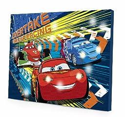 Disney Cars 2 LED Canvas Wall Art, 15.75-Inch x 11.5-Inch