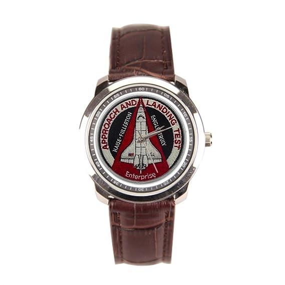 papibaby tiendas de reloj de pulsera reloj de acero inoxidable de la NASA: Amazon.es: Relojes