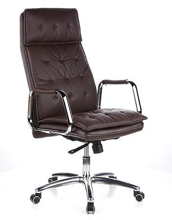 Hjh Office 600924 Chefsessel Burostuhl Villa 20 Nappa Leder Braun