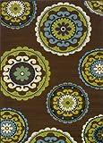 Oriental Weavers 859D6 Caspian Outdoor/Indoor Area Rug, 2-Feet 5-Inch by 4-Feet 5-Inch
