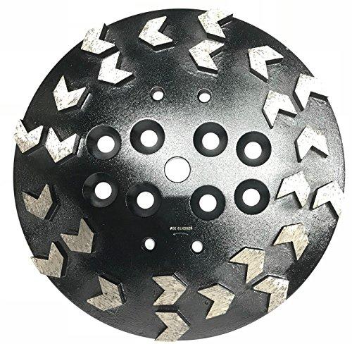 (Whirlwind USA GPGA 10-inch Diamond Grinding Head Premium Aggressive Arrows-shaped Segmented (10