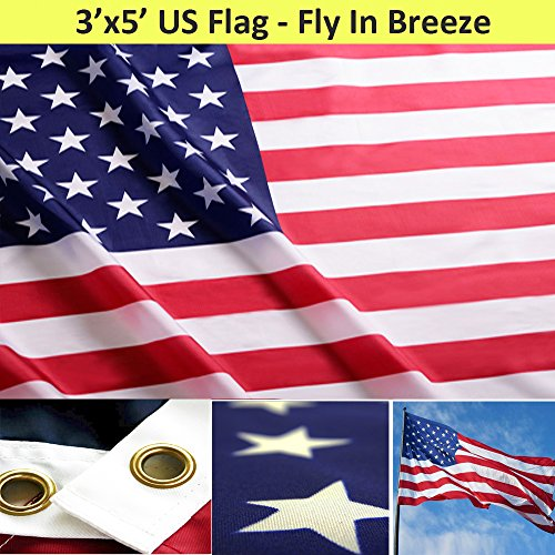 TUC 3x5 Polyester Flag of the United States of America USA