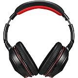 Ausdom Bluetooth4.0 Headphone , Black/Red (M04s)