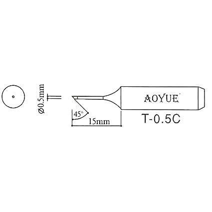 AOYUE T-0.5C Punta de soldadura R 0.5mm / 45°