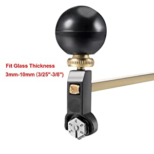 uxcell 100cm Adjustable Compasses Type Glass Circle Circular Cutter with Suction Cup (Color: Black,Brass Tone, Tamaño: 100cm)
