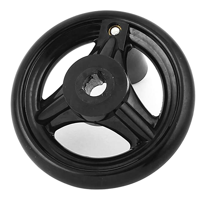 eDealMax fresadora 4 pulgadas de diámetro de la rueda de mano Negro w empuñadura giratoria - - Amazon.com