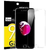 Panzerglas iPhone 7/8, NEWC® Tempered Glass 9H Härte, Frei von Kratzern Fingabdrücken und Öl, HD Displayschutzfolie, 0.33mm Ultra-klar, panzerglas schutzfolie für iPhone 7/8