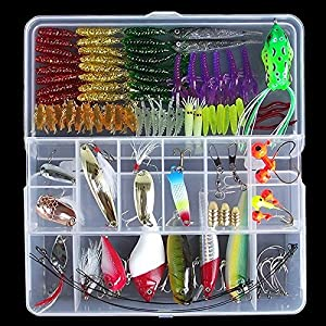 WALLER PAA 120Pcs/Lot Fishing Lure And Fishing Tackle Accessories Tackle Box