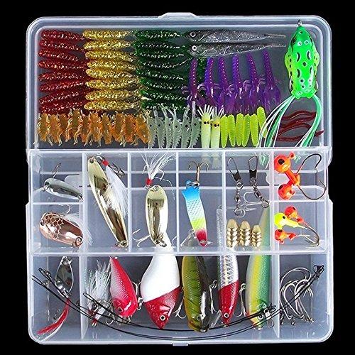 WALLER PAA 120Pcs/Lot Fishing Lure And Fishing Tackle Accessories Tackle Box