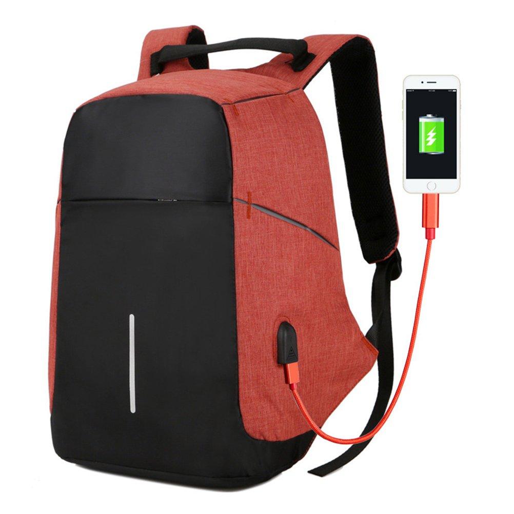 Zhuhaijq Laptop Bag with USB Charging Port Large Capacity Fashion Business Packs