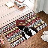 Africa Women Snowflake Fabric Door Mat Rug Indoor/Outdoor/Front Door/Shower Bathroom Doormat, Non-slip Doormats, Size40X60CM.