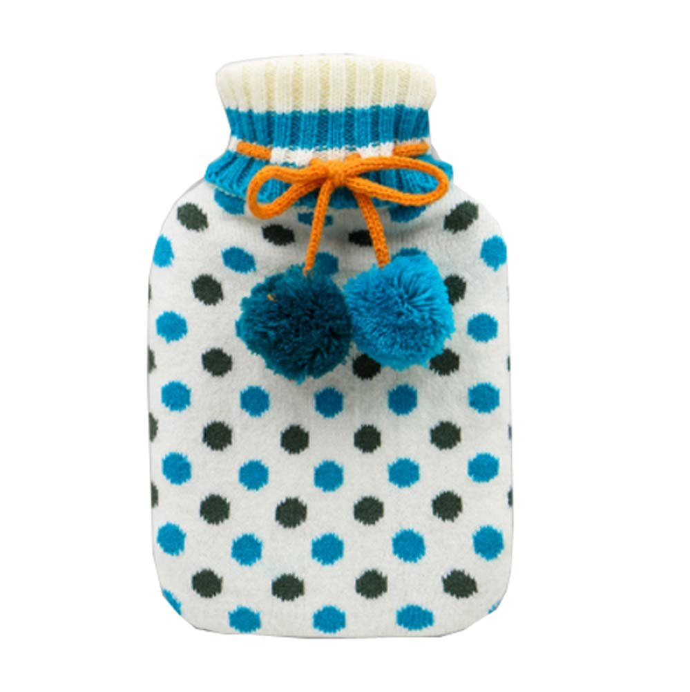 850 ML Natural Rubber Water Injection Hot Water Bag,Blue
