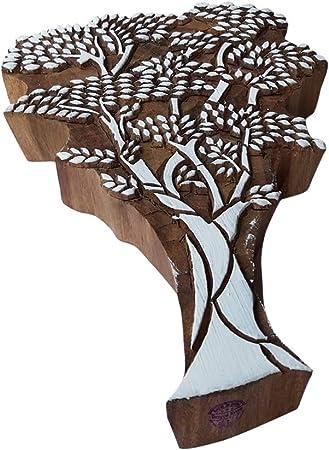 Tatouage Imprimer Bloc Gros Arbre Feuillu Pattern Grand Bois Timbre Amazon Fr Cuisine Maison