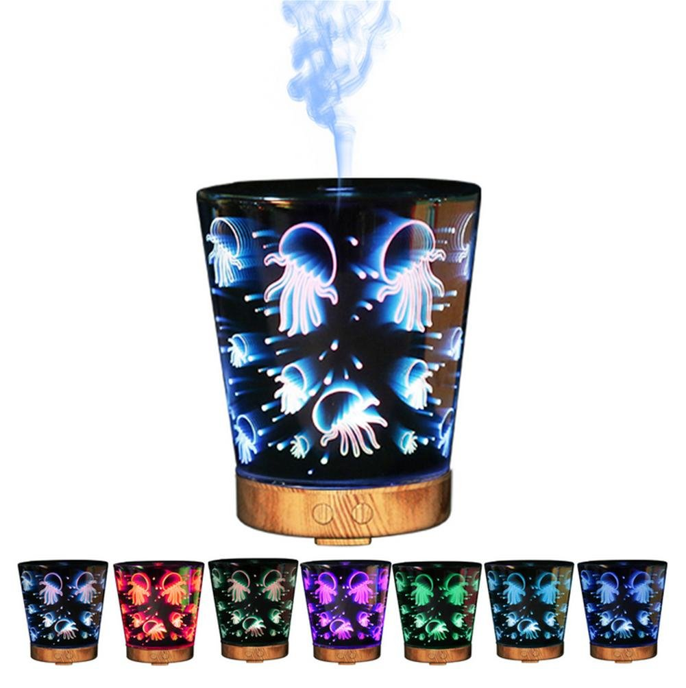 OOFAY Humidifier Creative Aroma Glass 3D Mechanical Colorful Lights Gifts Lamp