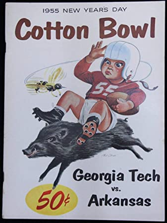 Amazon.com: Vintage 1955 Cotton Bowl Georgia Tech Vs. Arkansas ...