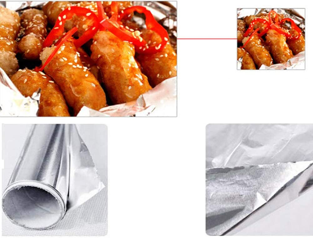 CRAZYON 5 Meter Back Werkzeuge Grill Grill Tinfoil Grill Haushaltsfolie Backofen tinfolie Aluminium FOI