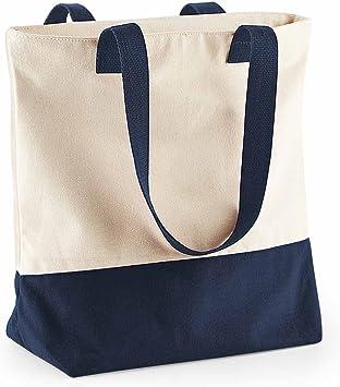 Bag Base BG683 - Bolsa de algodón, asas grandes, para ir de ...