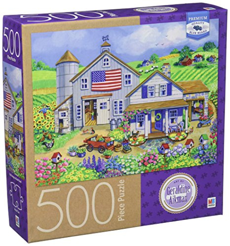Cardinal Industries Geraldine Aikman Patriotic Farm Puzzle (500 Piece)