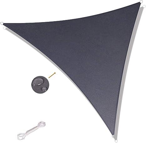 SUNNY GUARD Tenda a Vela Rettangolare 2x4m Antivento Impermeabile Protezione Raggi UV per Giardino terrazza Campeggio Grigio