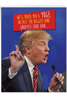 Large Funny President Trump Build A Yuge Cake Happy Birthday Card 85 X 11