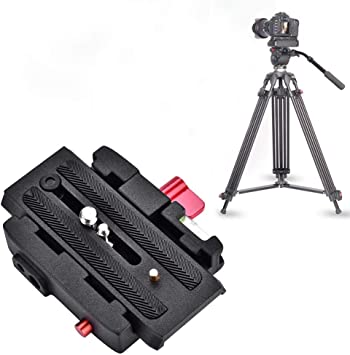 Camera Plate Quick Release Clamp Adapter Black Color : Black Quick Release Plate P200 Compatible with Manfrotto 501 500AH 701HDV 503HDV Q5