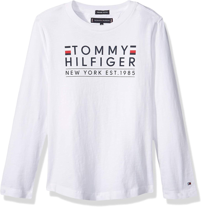 Tommy Hilfiger - Essential Tommy tee - Camiseta Manga Larga Blanca (10 AÑOS): Amazon.es: Ropa y accesorios