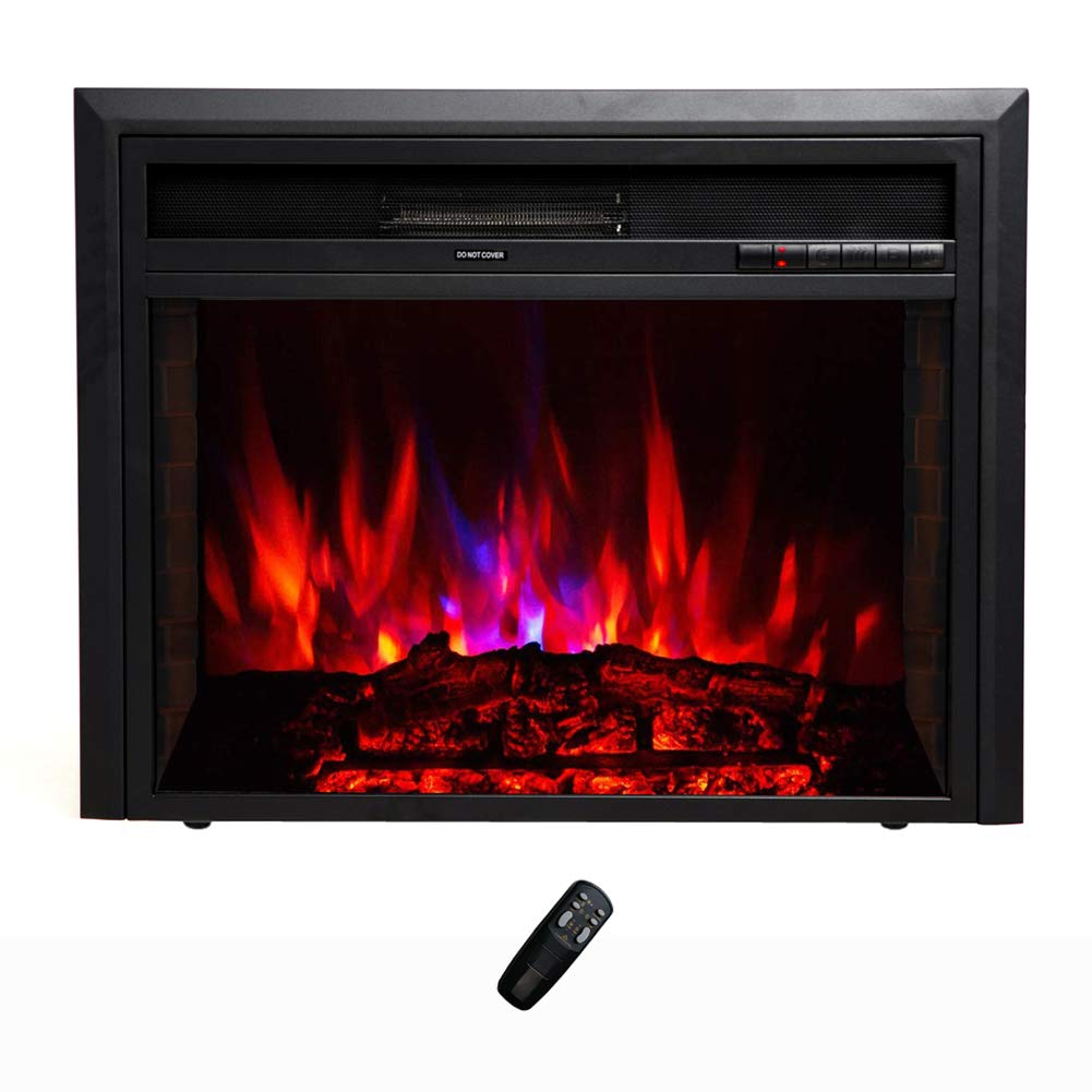 FLAME SHADE Electric Fireplace Insert – Recessed or Freestanding – Width 32in