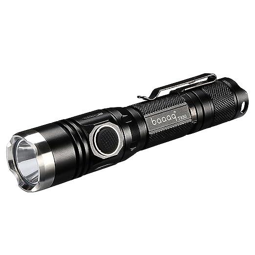 18 opinioni per Baaaq T850 lampada torcia tattica militare LED CREE XPL V5 1060 lumen USB