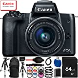 Canon M50 Bundles (Ultimate Bundle - Black with 15-45mm Lens)