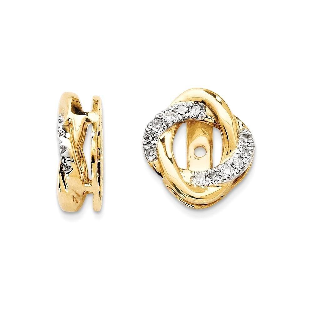 14K Yellow Gold Diamond Jacket Earring