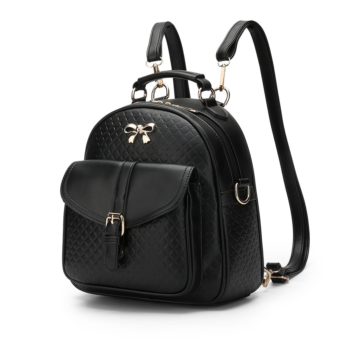 MSZYZ Women's shoulder bag spring and summer young girl's small backpack,black,24.51026CM