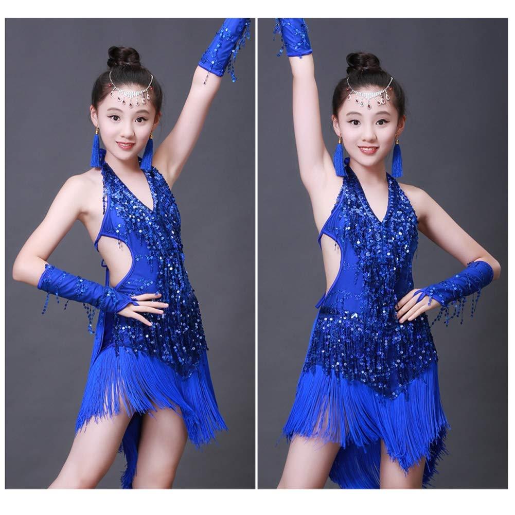 JIE. Latin-professionelle Mädchen Latin Dance Dance Dance Kostüme Tassel Pailletten Tanz-Performance-Kleidung, 3,130cm B07PVH2M4L Bekleidung Kaufen Sie online a6127c