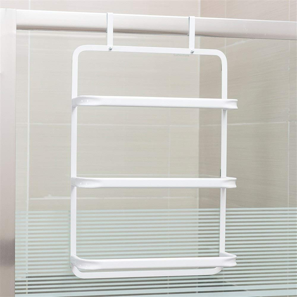 Chenjinxiang01 Hook, Bathroom Storage Rack, Wall Hanging Towel Rack,Suitable for Cabinet Doors, Back Door, Clothes Rack, Wallet, Belt (Color : White)