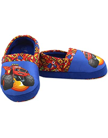 9895bc03f823 Blaze and The Monster Machines Boys Toddler Plush Aline Slippers