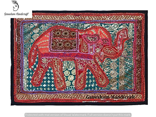 Indian Handmade Vintage Banjara Elephant Patchwork Home Decor