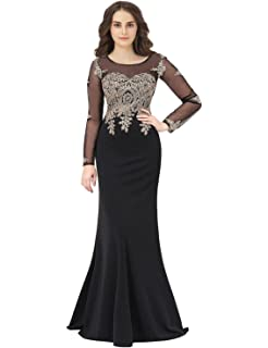 7061973b186 anmor Women s Beaded Sequin Prom Dress Long 2019 Formal Evening Party Ball  Gowns