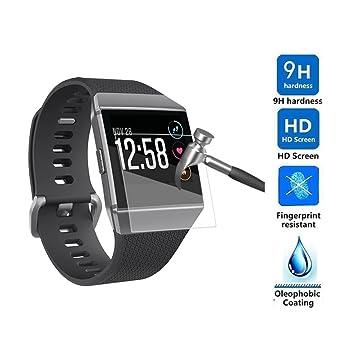 Protector de pantalla para reloj inteligente Fitbit Ionic, VNEIRW Ultrathin Clear HD Protector de pantalla impermeable película de protección para reloj ...