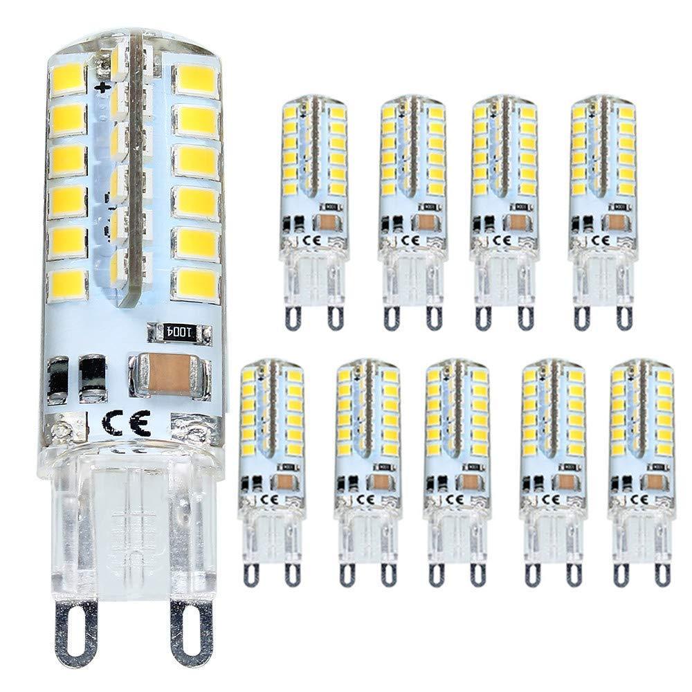 ELINKUME G9 LED Lámpara 4W Blanco cálido, G9 Bombilla LED no regulable, Reemplazo para 40W G9 Bombillas halógenas, 320Lumen 3000K, AC 200-240V, Ángulo de ...