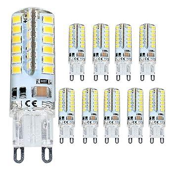 ELINKUME G9 LED Lámpara 4W Blanco cálido, G9 Bombilla LED no regulable, Reemplazo para