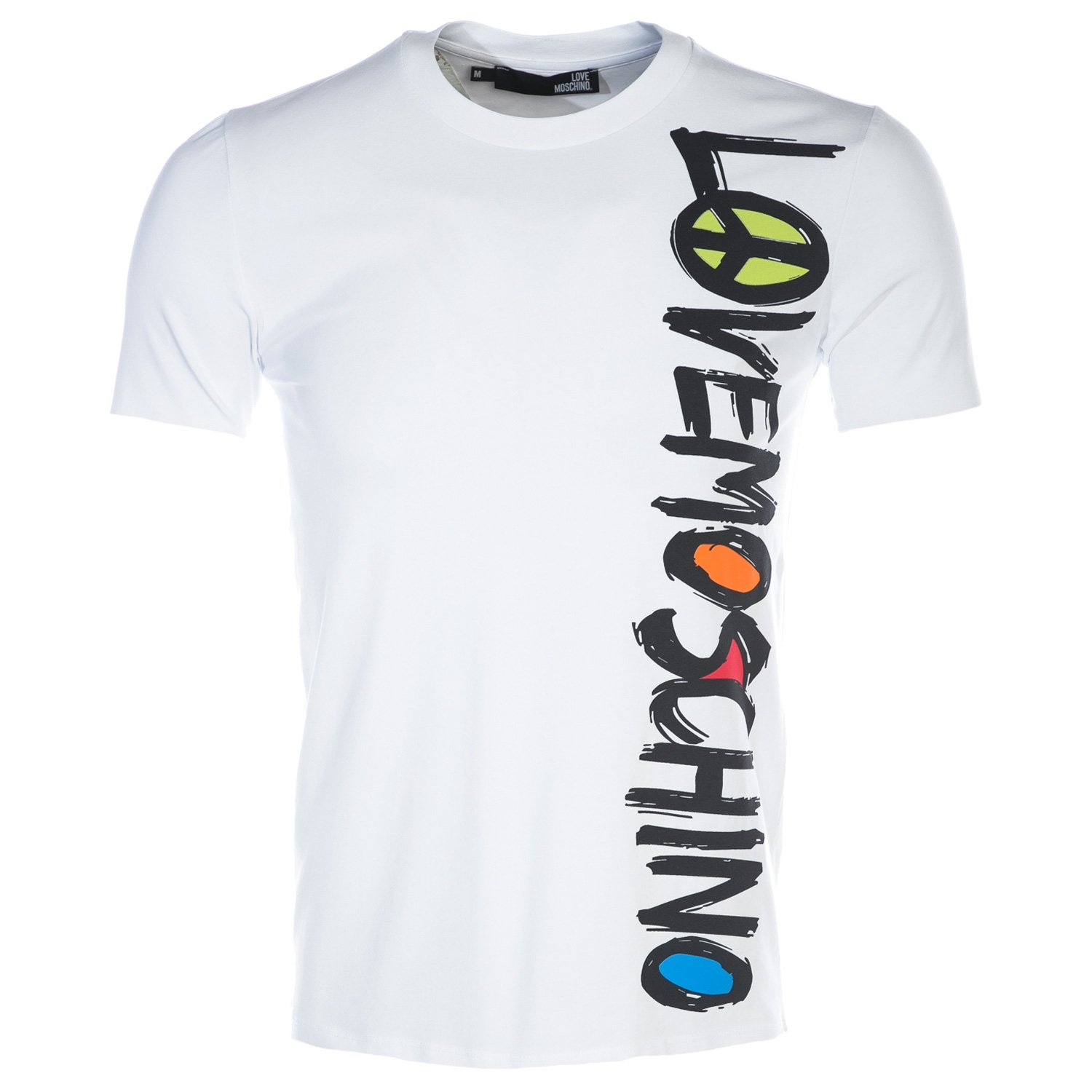 MOSCHINO Love Colours T Shirt in White XL