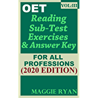 OET Reading (5 sets) For All-Professions by Maggie Ryan: Updated OET Preparation Book: VOL. 3, 2020 Edition (OET Reading Books by Maggie Ryan)