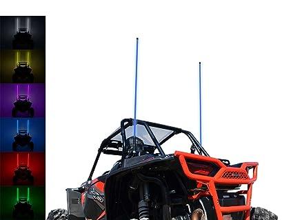 SuperATV 5 LED Whip Light PAIR- fit Polaris RZR 800, 900, 1000