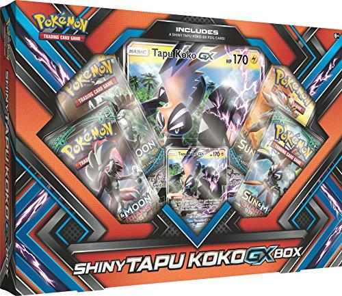oon Guardians Rising Shiny Tapu Koko Premium GX Box Featuring an Oversize Tapu Koko GX Card ()