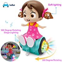 FunBlast Cute Musical Dancing Spinning Doll with Flashing Lights   Light and Sound Toys for Baby,Boys,Kids,Girls