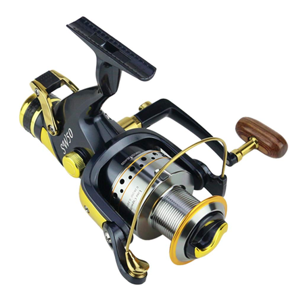SMyFone Ball Bearings 5.2:1 Fishing Spinning Reels Saltwater Freshwater Speed Gear for SW50-60