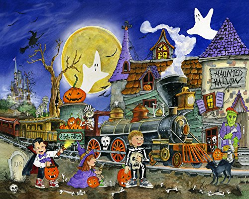 Vermont Christmas Company Spooky Express Halloween Jigsaw Puzzle