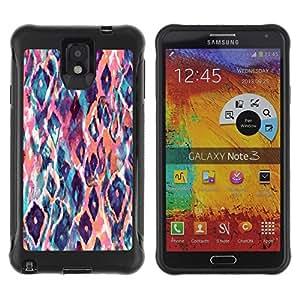 Suave TPU GEL Carcasa Funda Silicona Blando Estuche Caso de protección (para) Samsung Note 3 / CECELL Phone case / / Watercolor Teal Orange /