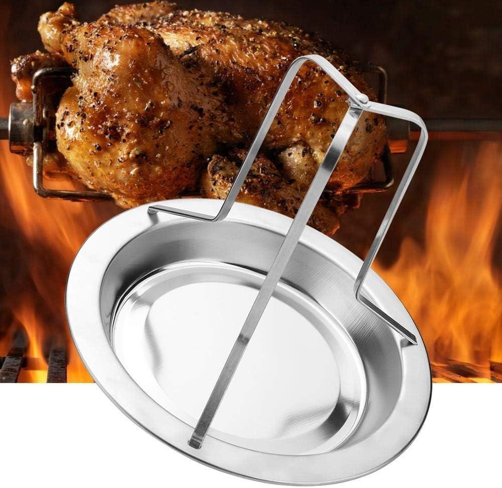 Broco 1Pc Edelstahl Upright Brath/ähnchen Halter Roaster Rack-Barbecue Grill Werkzeuge Grillen